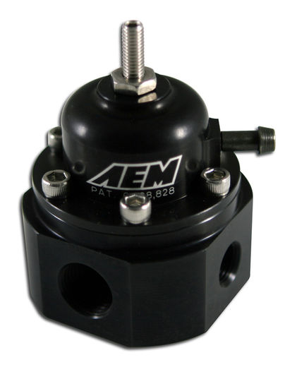 AEM 25-302BK - Universal adjustable fuel pressure regulator