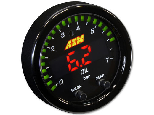 Oil pressure gauge, AEM X-series