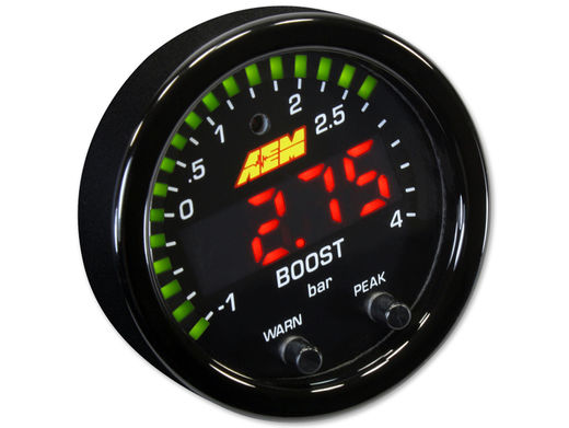 Boost pressure gauge, AEM X-series