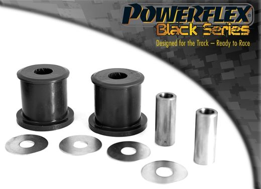 E46 Powerflex bushings rear diff mount, front, black