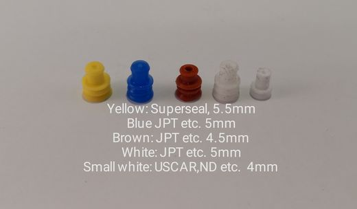 Silicone seals for connectors (choose right)