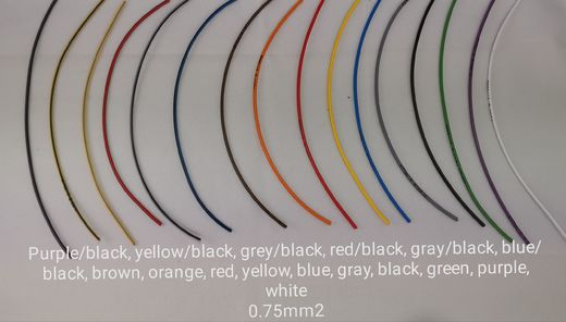 Wire 0,75mm², several colors