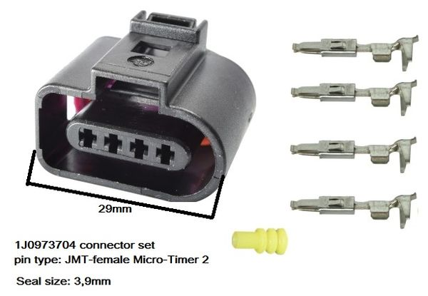 4-pin VAG-type connector set