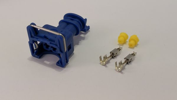 2-pin Junior timer connector, blue