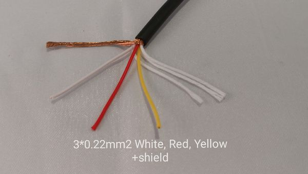 Shielded cable 3x0,22mm²