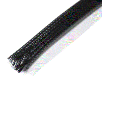 Braided sleeving, different sizes